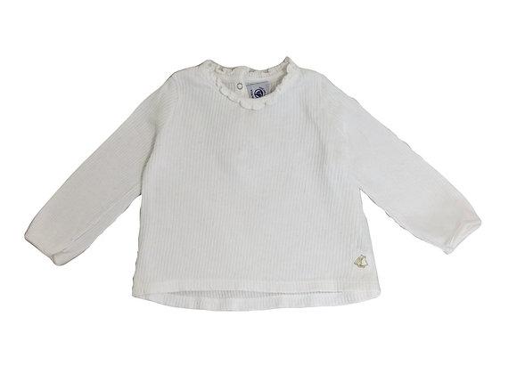 T-shirt Petit Bateau blanc 18 mois
