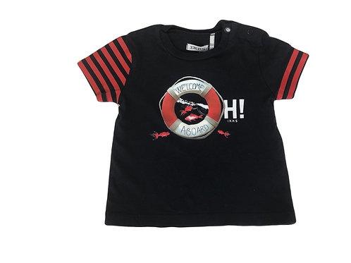 T-shirt IKKS  bleu et rouge 6 mois