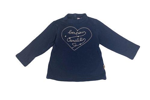 Tee-shirt à col roulé DPAM bleu 12 mois