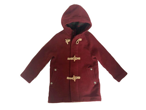 Manteau à capuche Zara rouge 7/8 ans