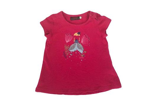 T-shirt Catimini imprimé rose 3 ans