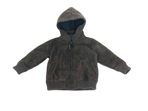 Manteau CFK à capuche marron 3 ans
