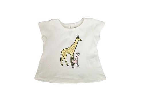 T-shirt Bout'chou imprimé girafe  9 mois