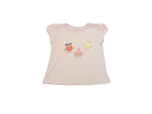 T-shirt Bout'chou rose imprimé 2 ans