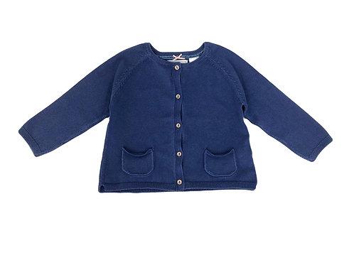Gilet Zara bleu boutonné 12/18 mois (82cm)