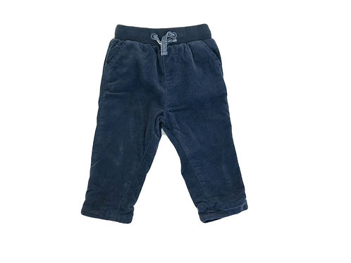 Pantalon Vertbaudet en velours bleu doublé 3 mois