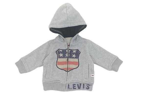 Sweat à capuche Levi's  gris 6 mois