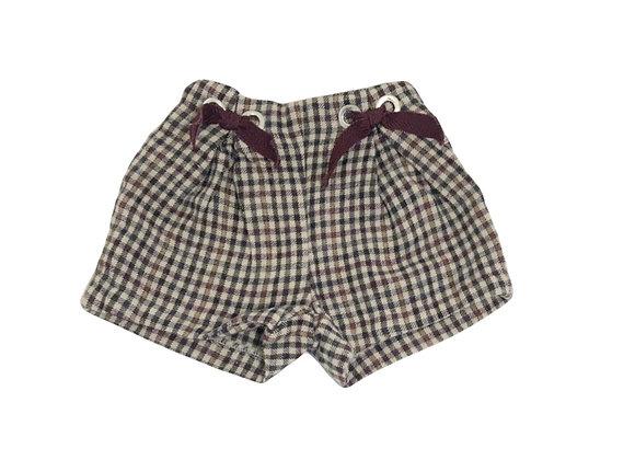 Short Zara à carreaux 18/24 mois (92cm)
