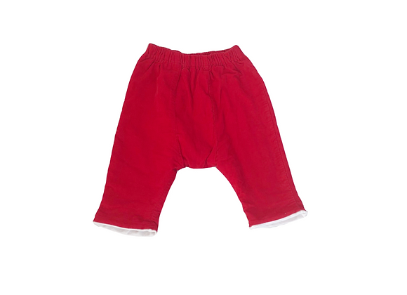Sarouel Petit Bateau rouge en velours côtelé 3 mois