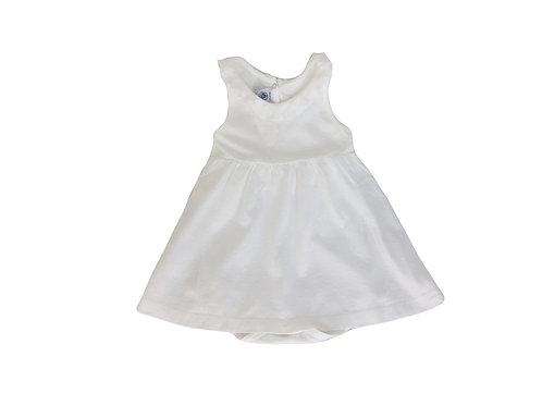 Robe Petit Bateau blanche 18 mois