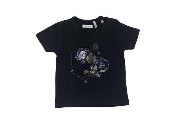 T-shirt IKKS bleu foncé imprimé 3 mois