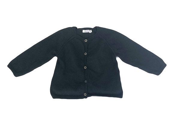 Gilet Bout'chou en laine noir 6 mois