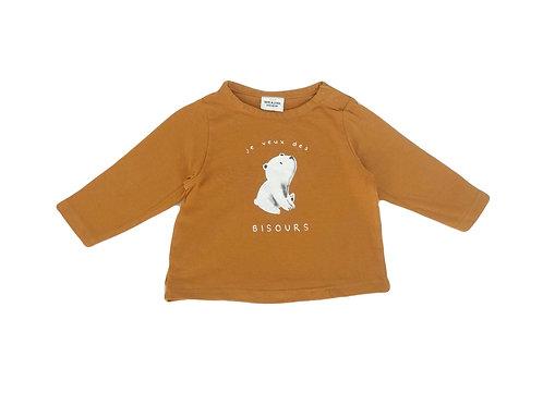 T-shirt Tape à l'oeil camel imprimé 6 mois