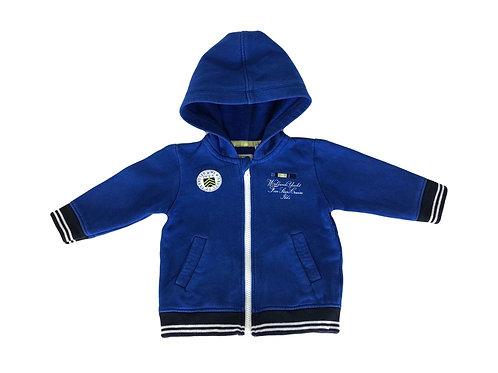 Gilet IKKS à capuche bleu 18 mois