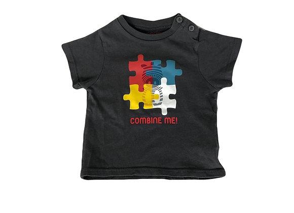 T-shirt Obaibi gris imprimé 6 mois