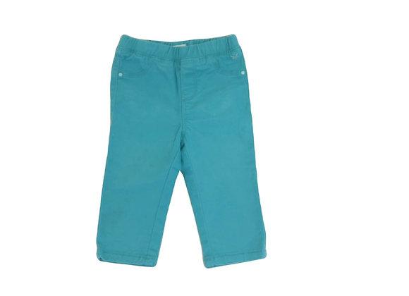 Pantalon Obaibi turquoise 12 mois