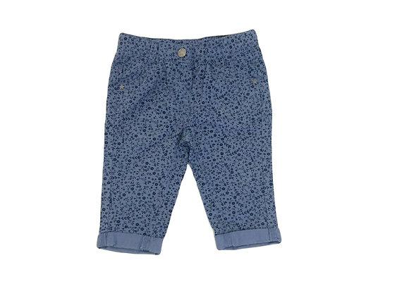 Pantalon Tape à l'oeil bleu fleuri 6 mois