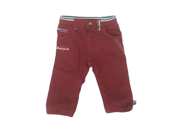 Pantalon Sergent Major rouge brique 9 mois neuf