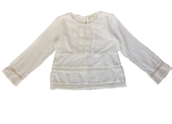 Blouse Zara en dentelle blanche 7 ans