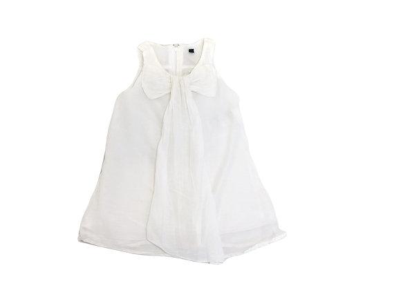 Robe Benetton blanche 12/18 mois