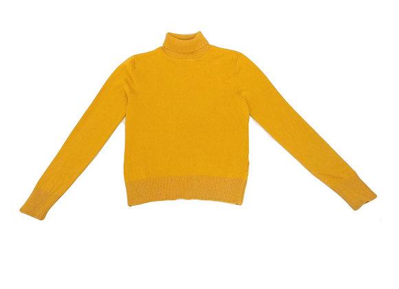 Pull Bel & Bo à col roulé jaune moutarde 10 ans