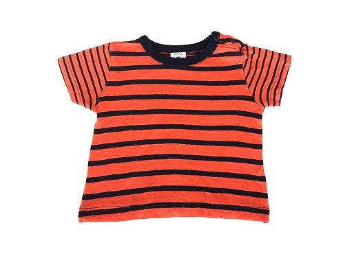 T-shirt Petit Bateau rayé orange 6 mois