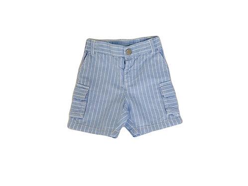 Short Jacadi en lin bleu 12 mois