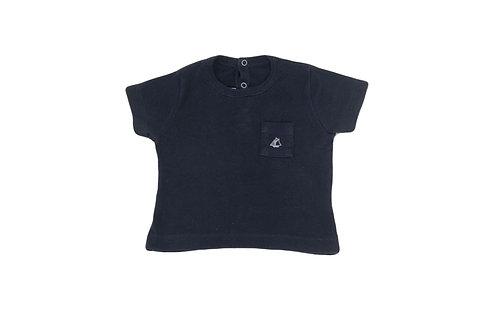 T-shirt Petit Bateau noir 6 mois