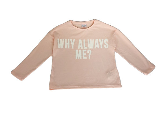 T-shirt Tape à l'oeil rose à message 4 ans