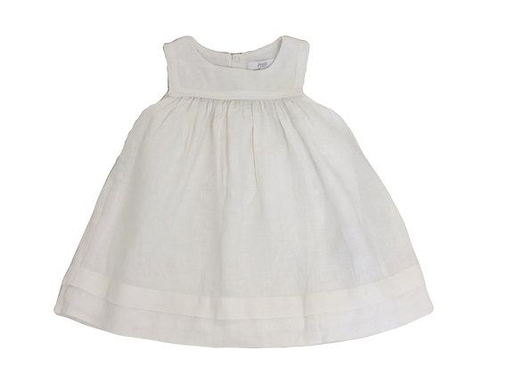 Robe de cérémonie Jacadi lin blanche 12 mois
