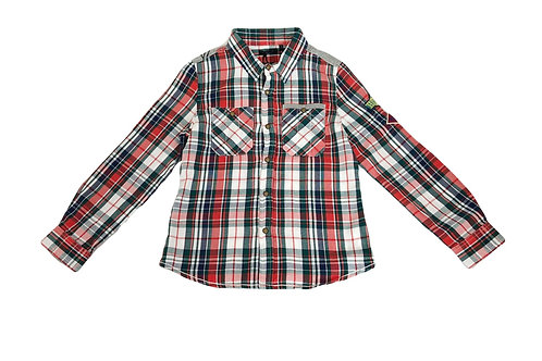 Chemise IKKS à carreaux 6 ans neuve