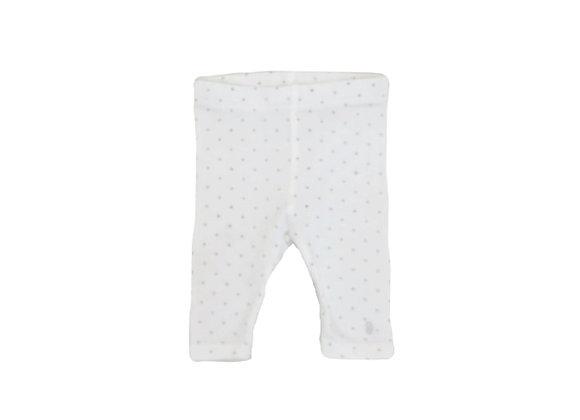 Legging Obaibi blanc à pois 1 mois (53cm)