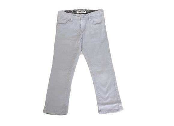 Pantalon Okaidi 7/8 skinny gris bleu 10 ans