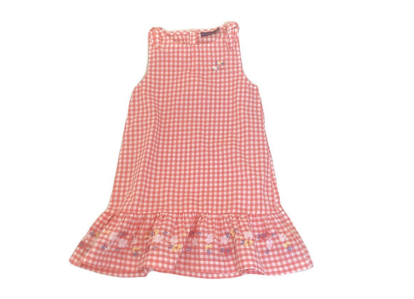 Robe Sergent Major vichy rose 4 ans