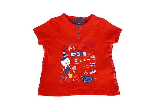 T-shirt Sergent Major rouge 9 mois neuf