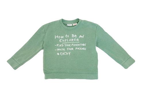 Sweat Zara vert 2/3 ans (98cm)