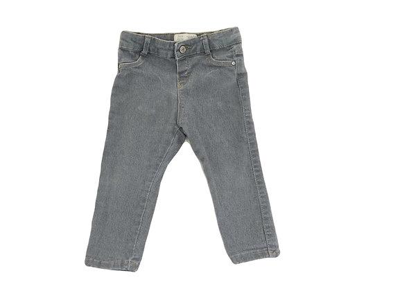 Jean Zara gris mixte 12/18 mois