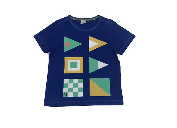 T-shirt Petit Bateau bleu 3 ans