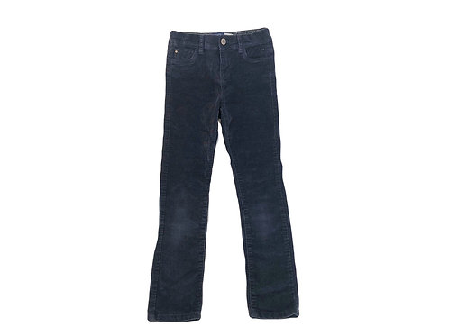 Pantalon skinny Okaidi en velours bleu marine 7 ans