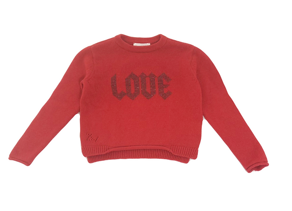 Pull Zadig & Voltaire rouge 4 ans