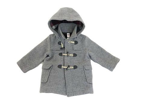 Manteau Zara en feutre gris 2/3 ans (94cm)