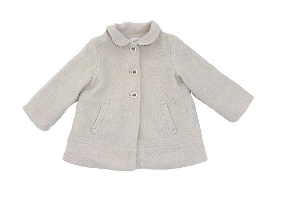 Manteau Zara en laine blanc 3/4 ans (104cm)