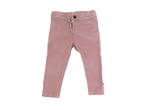 Pantalon Zara velours rose 12-18 mois