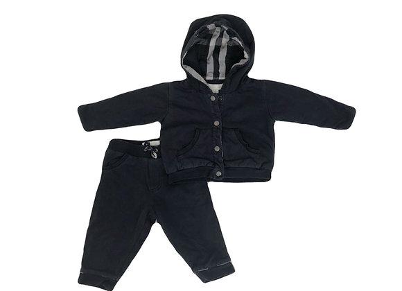 Ensemble Burberry sweat & pantalon noir 6 mois