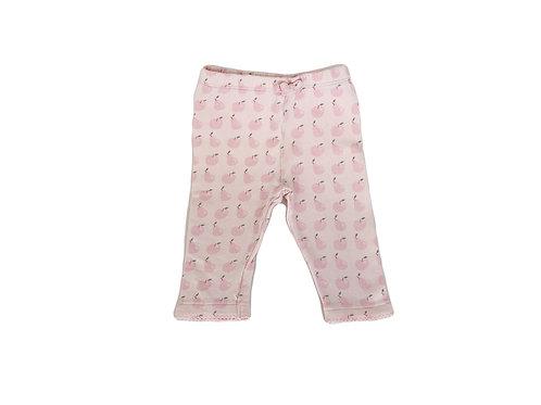 Pantalon Natalys rose imprimé 12 mois