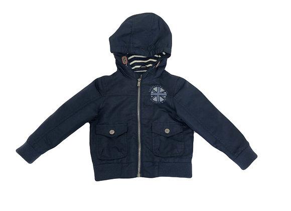 Manteau La Redoute bleu à capuche 3 ans