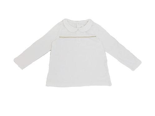 T-shirt à col Natalys blanc 3 ans