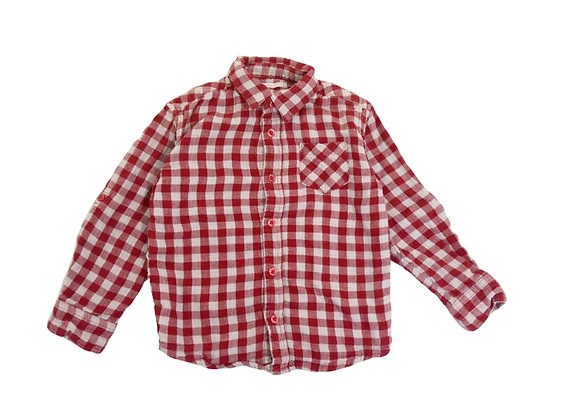 Chemise Monoprix à carreaux 4 ans