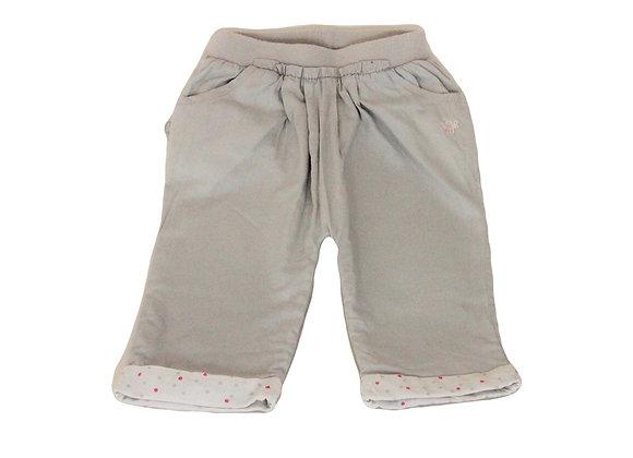 Pantalon Obaibi doublé gris 3 mois