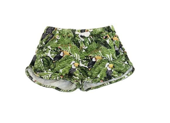 Short Zara imprimé tropical 9/10 ans (140cm)